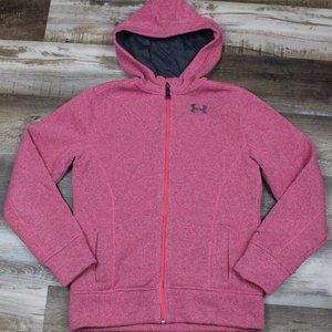 Under Armour Girls Full Zip Storm Hooded Jacket LG